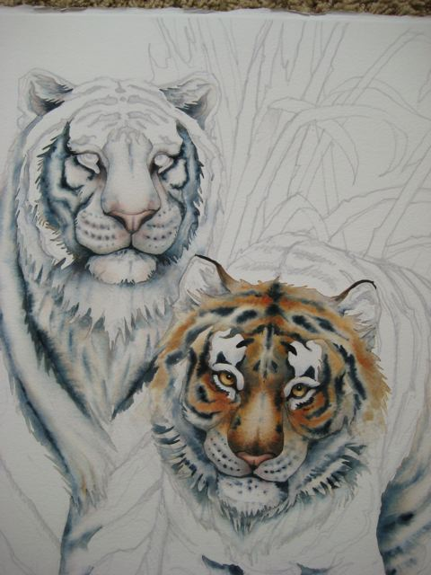 happy thanksgiving and painting tigers art with heart drawing