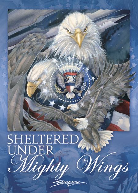 Eagles (Bald) / Sheltered Under Mighty Wings - Magnet