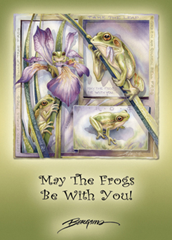 May The Frogs Be With You - Magnet