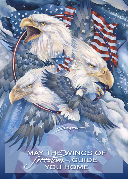 Eagles (Bald) / May The Wings Of Freedom Guide You Home - Magnet
