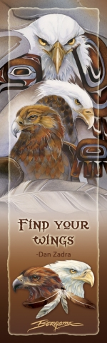Eagles (Bald) / Find Your Wings (Eagle Spirit) - Bookmark