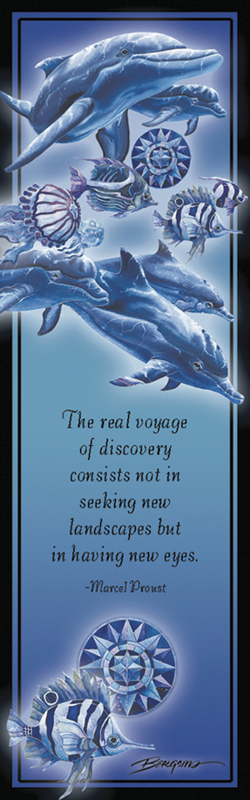 Dolphins / Guided By An Unseen Star - Bookmark