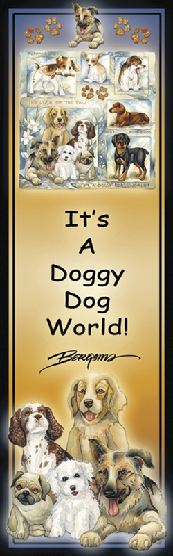 Dogs / It's A Doggy Dog World - Bookmark