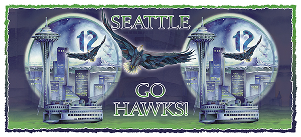 Seattle - Hawk Power! 15oz. Mug
