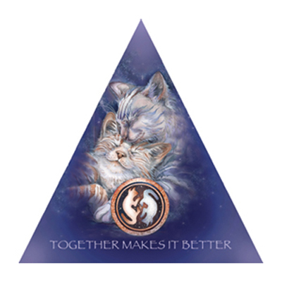 Cats / Lean On Me... - Pyramid Card
