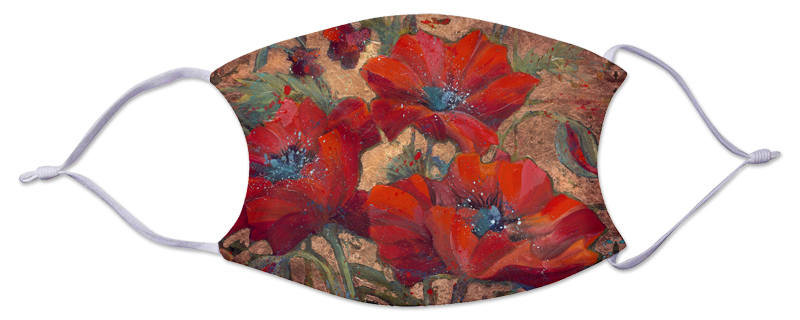 Face Mask - Flowers/Poppies