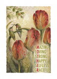 Mother: Amazing, Loving, Strong, Happy, Selfless, Graceful - Art Card