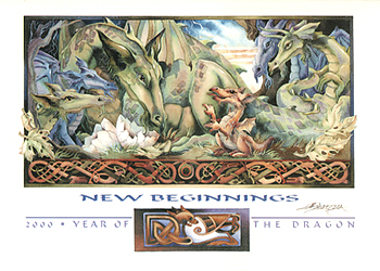 New Beginnings.2002 Year Of The Dragon - Art Card