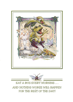 Eat A Bug Every Morning - Art Card