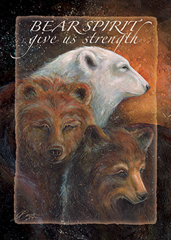 'Bear Spirit..Give Us Strength - Magnet