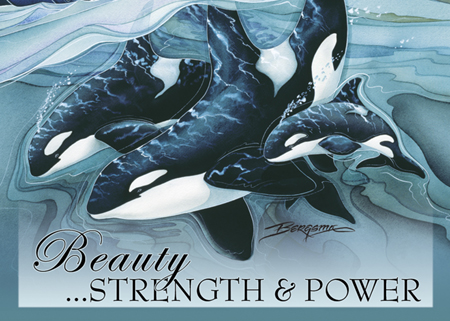 Beauty, Strength & Power - Magnet