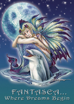 Mermaids & Sea Faeries / Fantasea... Where Dreams Begin - Magnet