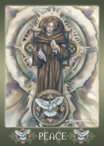 Spiritual Icon Series / St. Francis of Assisi - Magnet