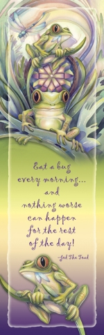 Frogs /  Eat A Bug... - Bookmark