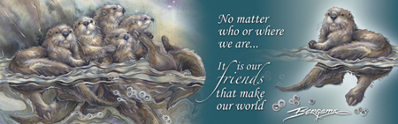 Otters / No Matter Who Or Where We Are... - Bookmark