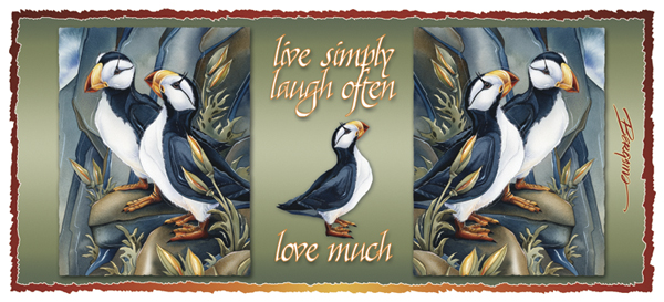 Puffins / Two Beaks, Or Not Two Beaks - Mug