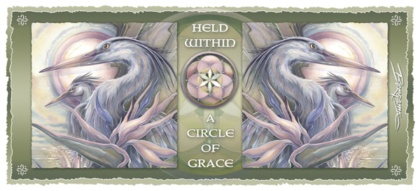 Herons / Held Within A Circle Of Grace - Mug