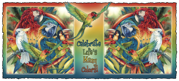 Parrots / Celebrate Life's Many Colors - Mug