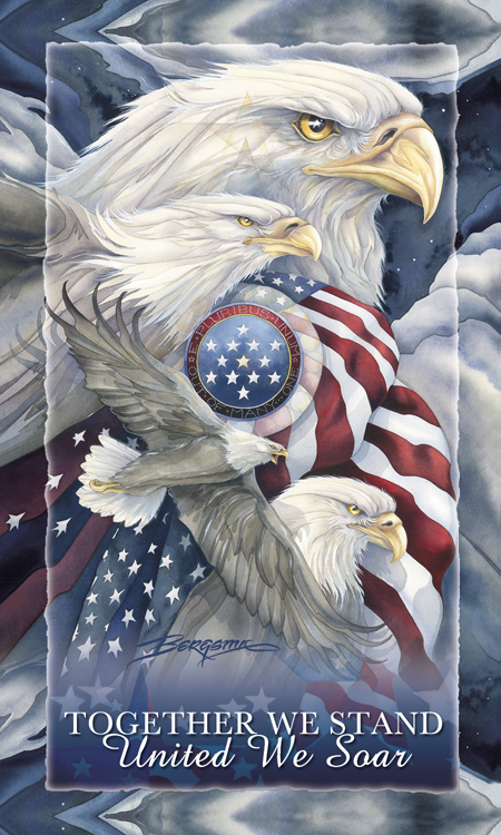 Eagles (Patriotic) / Together We Stand...United We Soar - Mailable Mini