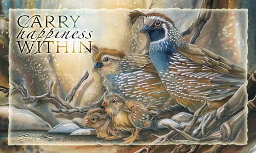 Quails / Carry Happiness Within - Mailable Mini