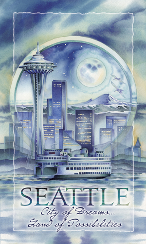Cityscape / Seattle... City Of Dreams... - Mailable Mini