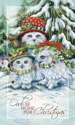 OWL Be Home for Christmas - Mailable Mini