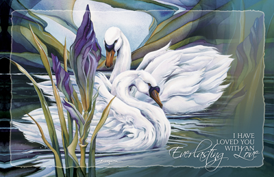 Swans / Everlasting Love - 11 x 14 in Poster