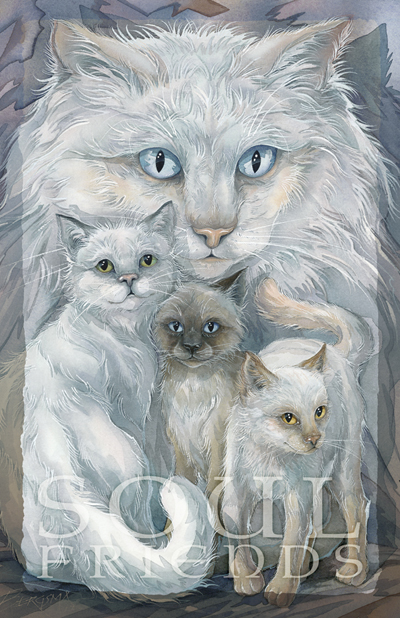 Cats / Soul Friends - 11 x 14 in Poster