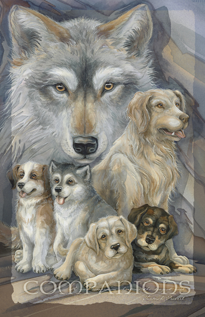 Dogs / Companions - 11 x 14 in Poster