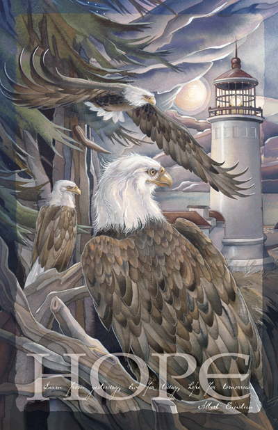 Eagles / In The Company Of Eagles - 11 x 14 in Poster