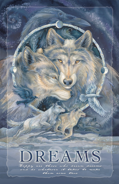 Wolves / In Spirit... I Am Free - 11 x 14 inch Poster