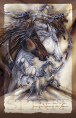 Horses / Ride The Wind - 11 x 14 inch Poster