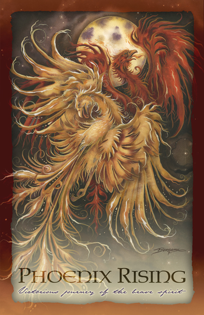 Mythological Creatures (Phoenix) / Phoenix Rising - 11 x 14 inch Poster