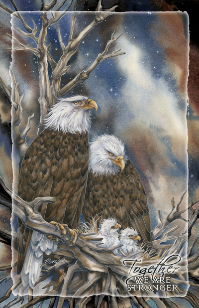 Eagles / Safety From The Storm - 11 x 14 in Poster