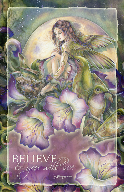 Faeries / Some Things Have To Be Believed... To Be Seen - 11 x 14 inch Poster