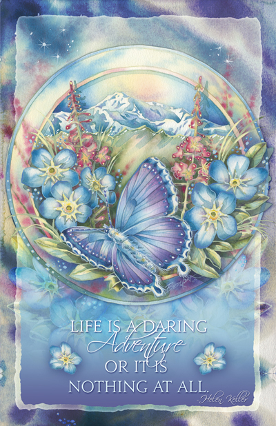 Butterflies / Life Is A Daring Adventure - 11 x 17 in Poster