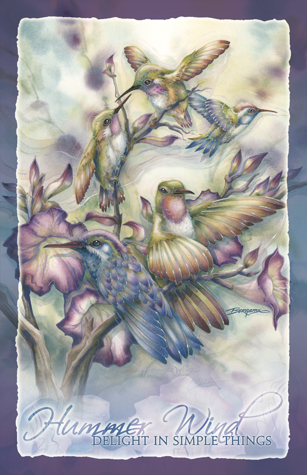 Hummingbirds / Hummer Wind - 11 x 14 in Poster