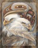 Eagle Totem - 11 x 14 in Poster