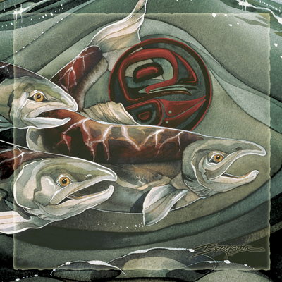 Fish (Salmon) / The Journey Home - Tile
