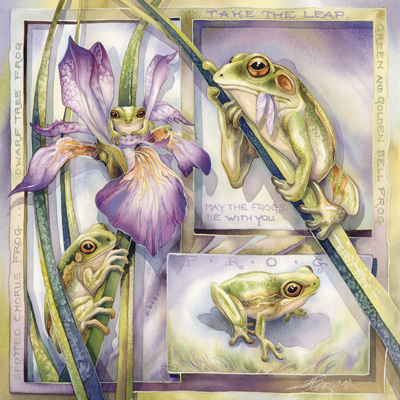 May The Frogs Be With You - Tile