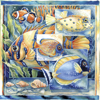 Fish (Tropical) / Tell Me Your Sea-crets - Tile