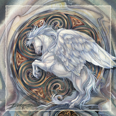 Mythological Creatures (Pegasus) / May Your Dreams Take Flight - Tile