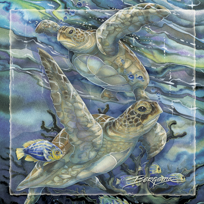 Turtles / Sea Tranquility - Tile