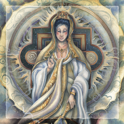 Spiritual Icon Series / Quan Yin - Tile