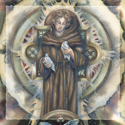 Spiritual Icon Series / St. Francis of Assisi - Tile