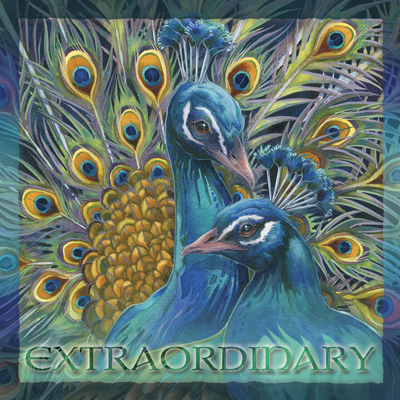 Peacocks / Blue Rhapsody - Tile