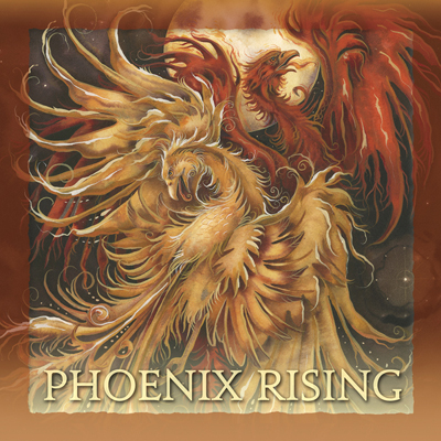 Mythological Creatures (Phoenix) / Phoenix Rising - Tile