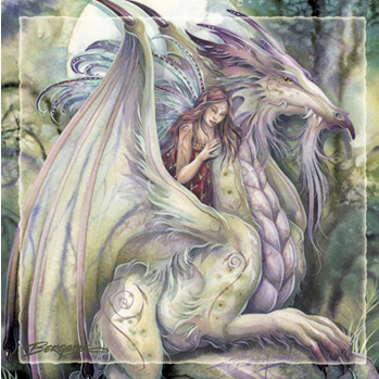 Mythological Creatures (Dragons) / Nothing Happens Unless First A Dream - Tile