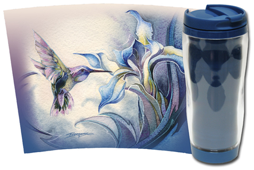 Hummingbirds / Look For The Magic... - Travel Mug