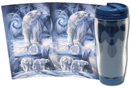 Bears (Polar) / In Following Dreams... Destiny Is Found - Travel Mug